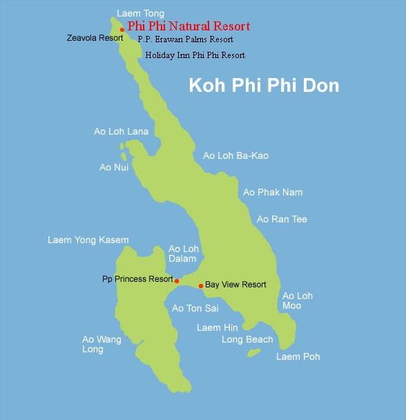 Phi Phi Island Cabana Hotel: Phi Phi Natural Resort Phi Phi Island In Phi Phi Thailand